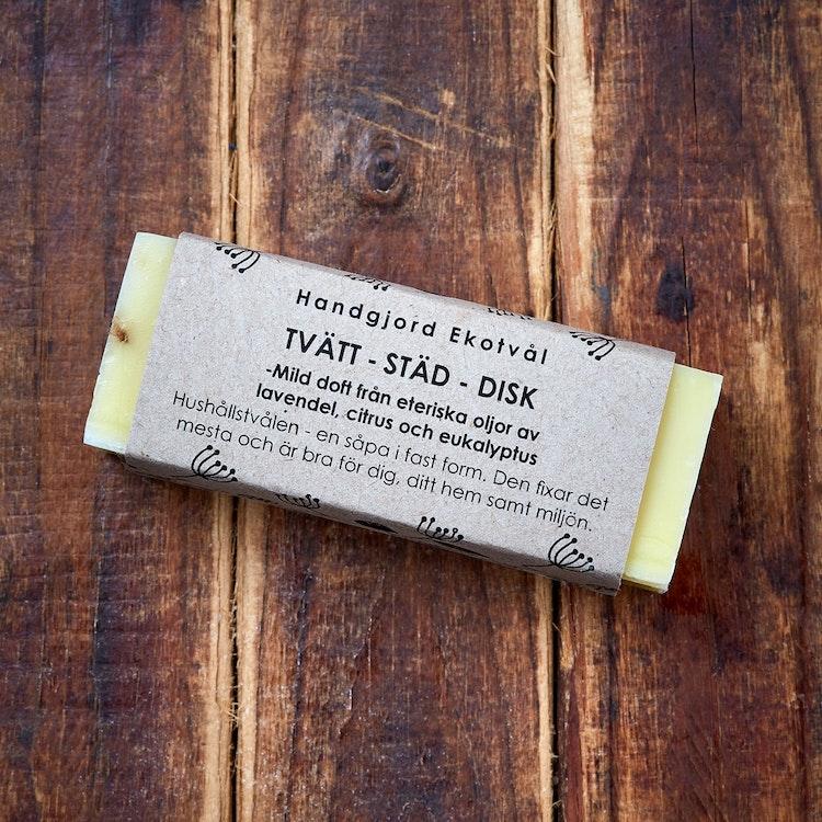 Handgjord Ekotvål Tvätt-Städ-Disk - mild doft Fast tvål