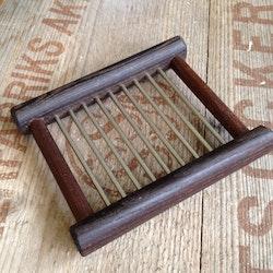 Tvålfat värmebehandlat trä & rostfri stål