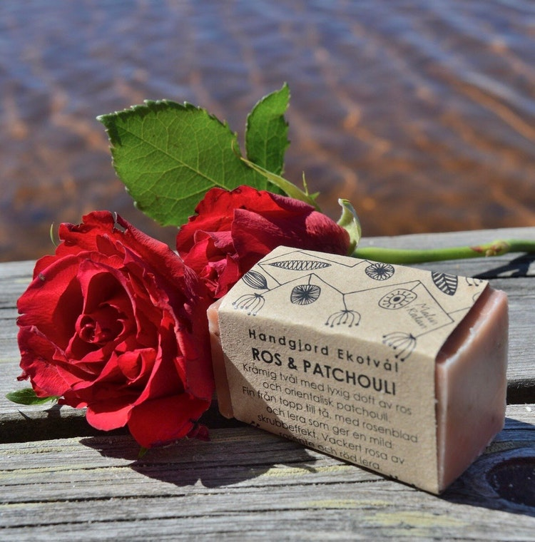 Handmade Eco Soap Red Clay & Rose - oriental scent of patchouli