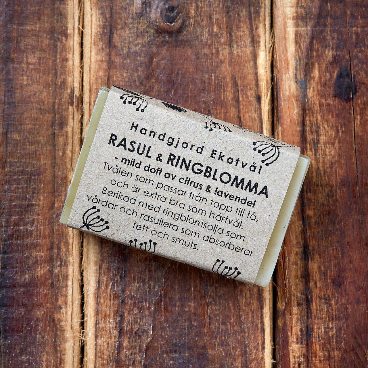 Handgjord Ekotvål Rasul & Ringblomma - mild doft av citrus & lavendel