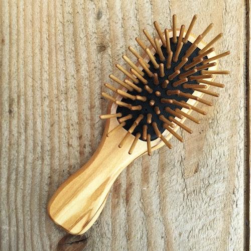 Mini-hårborste träpiggar