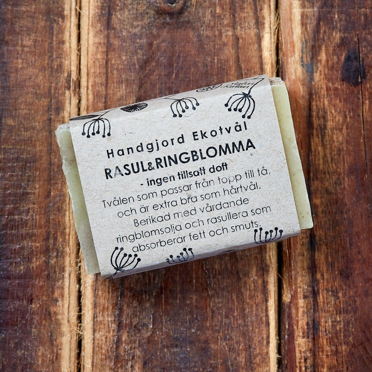 Handmade Eco Soap Rhassoul & Calendula - unscented