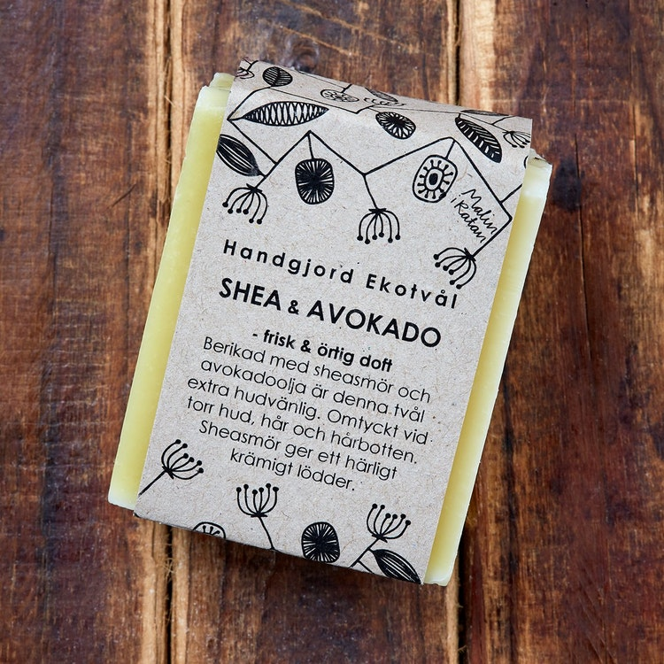 Handgjord Ekotvål Shea & Avokado - frisk örtig doft