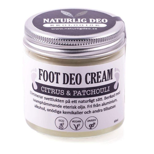 NaturligDeo - Ekologisk FOOT DEO Cream Citrus & Patchouli 60 ml