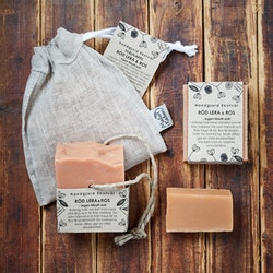 Handmade Eco Soap Red Clay & Rose - unscented