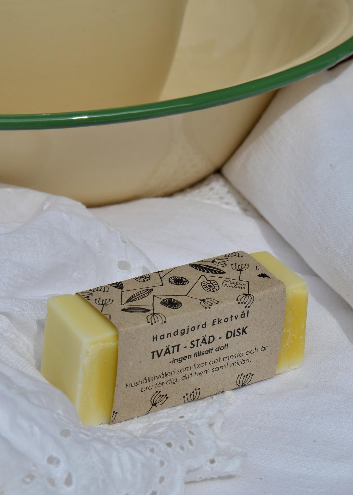 Handgjord Ekotvål Tvätt-Städ-Disk - ingen tillsatt doft Fast tvål