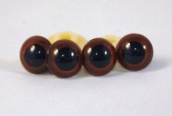 5 par bruna säkerhetsögon
