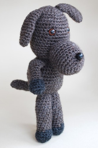 Hunden Bruno virkmönster amigurumi