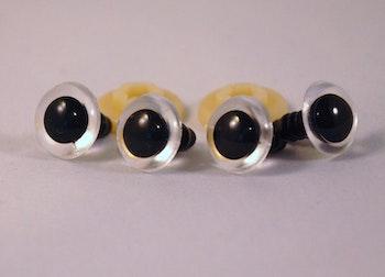 5 par i svart med transparent kant säkerhetsögon