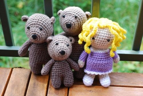 Guldlock och de tre björnarna  (Virkmönster)