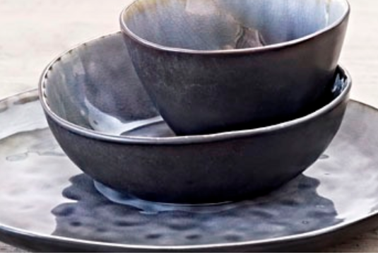 Sopp /frukost skål grå