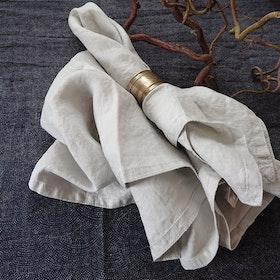 Servetter Tvättat Linne Natur 2-pack