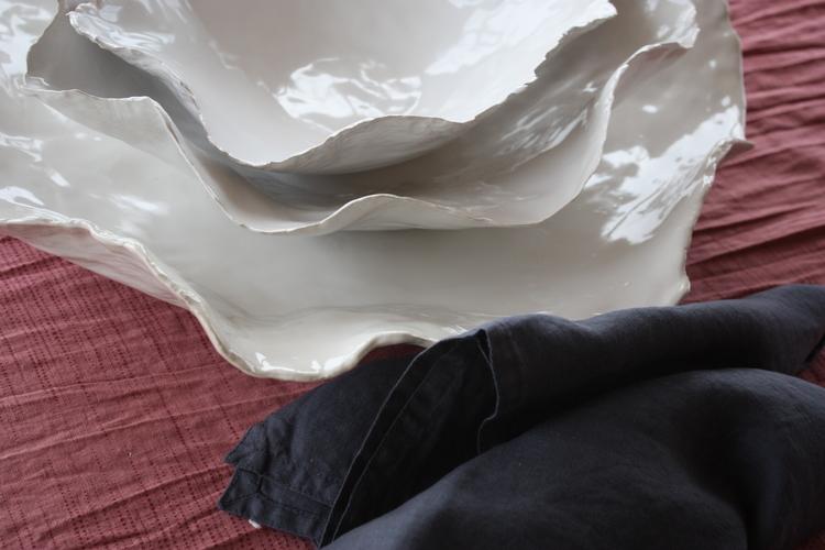 Keramikfat Vitt Litet