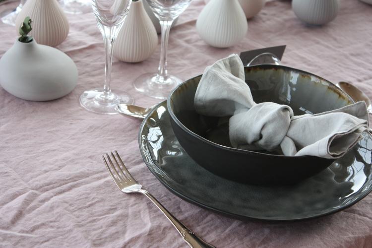 Soppa/ pasta tallrik Grå