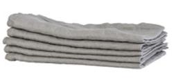 Ljusgrå servett i stentvättat linne