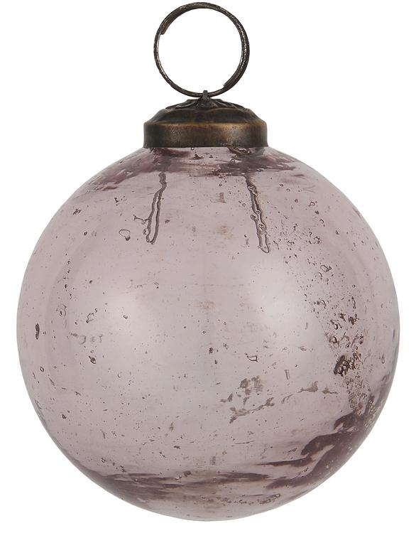 Julkulor i glas Rosa