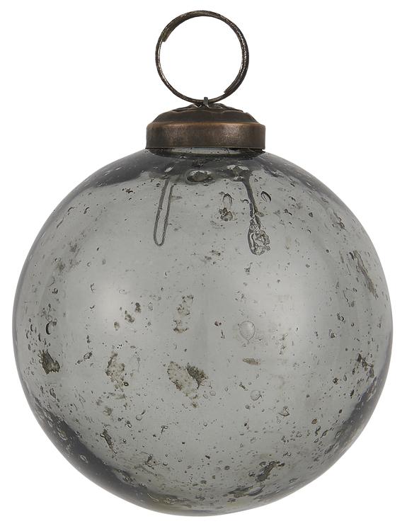 Julkula i glas Grå