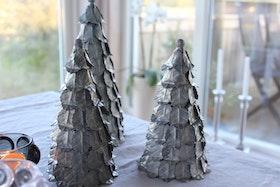 Julgran i metall liten