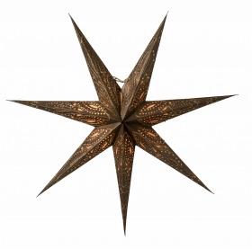 Julstjärna i bronsfärgat papper