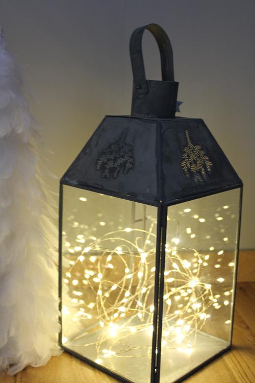 Microslinga LED 80 lampor silver