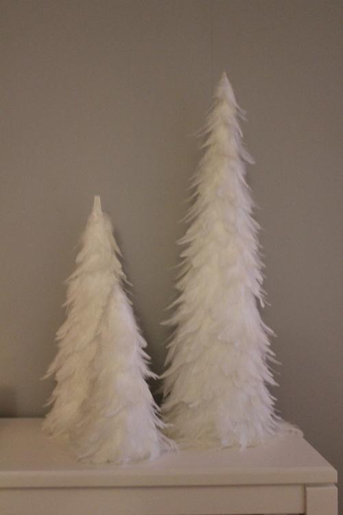 stor Gran fjädrar vit 60 cm