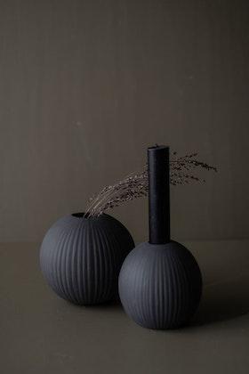Vena Liten mörkgrå keramikvas