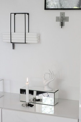 Ljusförvaring ljushållare svart