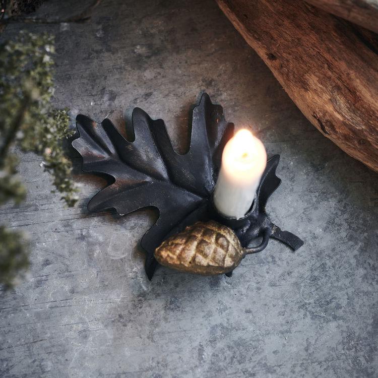 Ljusstake, Leaf, Svart
