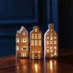 Ljushus i sett med  3 olika hus . variant 4
