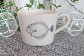 Keramikmugg  Flundra - Pusspuss Company