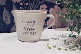 Keramikmugg 'Enjoy the little things' XL - Pusspuss Company