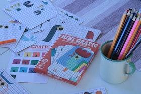 Mini grafic, rutor att färglägga - Brigbys