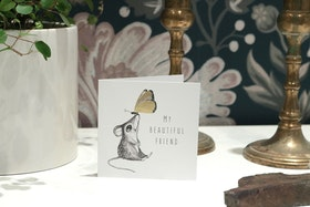 Kort My beautiful friend - Cards by Jojo