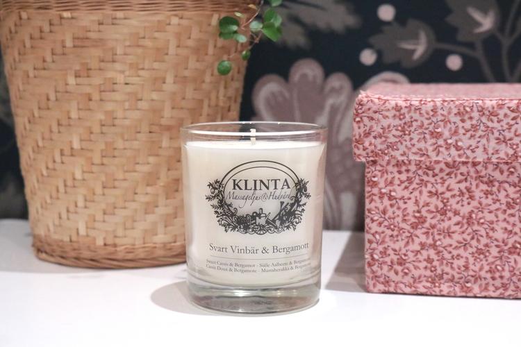 Massageljus Svartvinbär och Bergamot - Klinta & Co