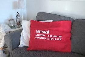 Kuddfodral Röd - Stikkan Design