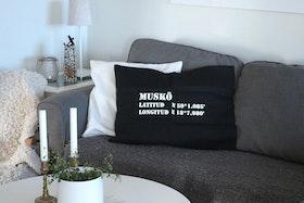 Kuddfodral Svart - Stikkan Design