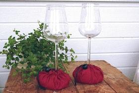 Vinglashållare vinröd - Vingel