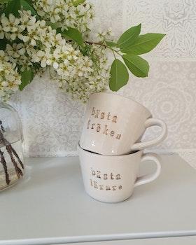 Keramikmugg Bästa lärare - Puss puss Company