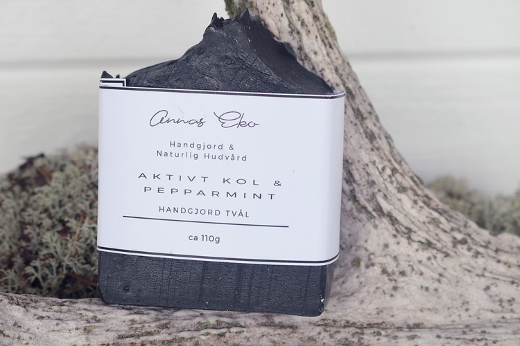 Tvål Aktivt kol och Pepparmint - Annas Eko