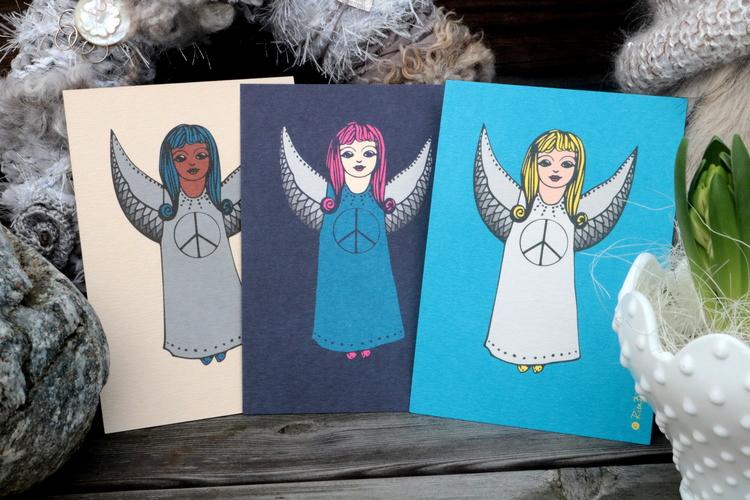 Kort Ängel * 4  - Rita Börlin