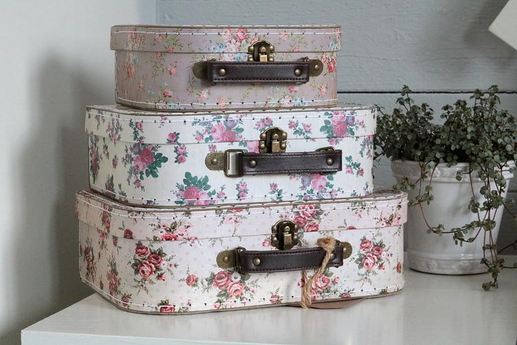 Blommiga väskor i set om 3 - Sass and Bell