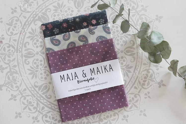 Bivaxfolie Paisleyblommor - Maja & Maika