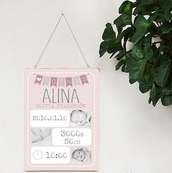 Födelseposter Sötnos rosa