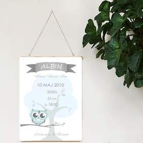 Födelseposter Blå trädugglan