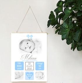 Födelseposter Underbar blå