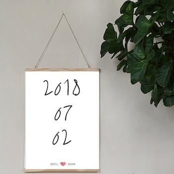 Bröllopsposter Datum