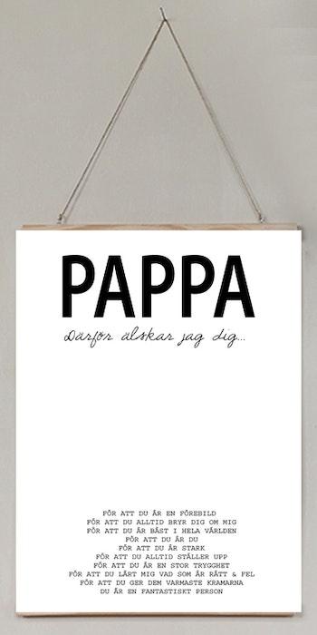 Pappa därför älskar jag/vi dig