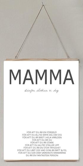 Mamma därför älskad VI/JAG dig