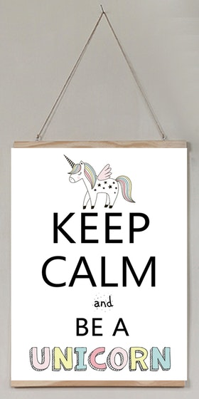 Barntavla Keep calm and be a unicorn
