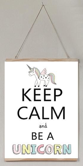 Barntavla Keep calm and be a unicorn